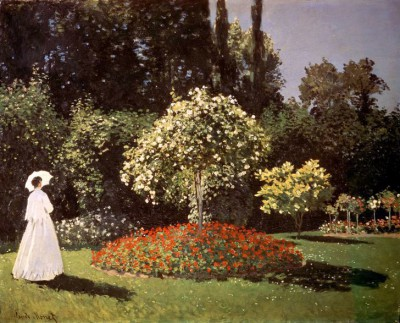 Woman in a Garden - Claude Monet