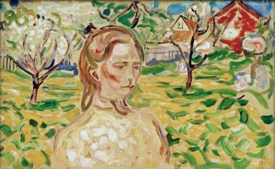 Woman in a garden - Edvard Munch