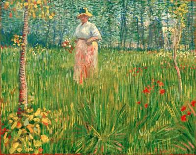 Woman in a garden - Vincent van Gogh