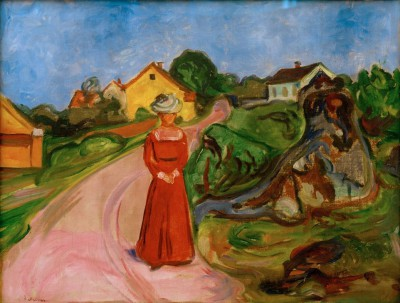 Woman in a red dress - Edvard Munch