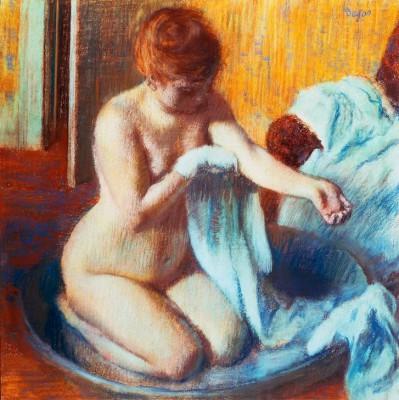 Woman in a Tub - Edgar Degas
