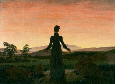 Woman in front of setting sun - Caspar David Friedrich