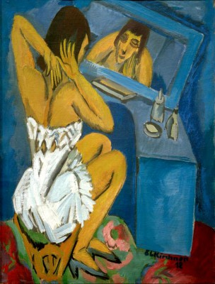 Woman in front of the mirror - Ernst Ludwig Kirchner