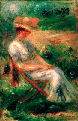 Woman Sitting in the Garden - Pierre Renoir