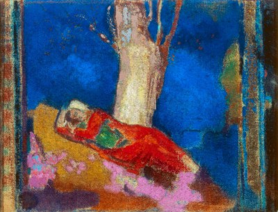 Woman Sleeping Under a Tree - Odilon Redon