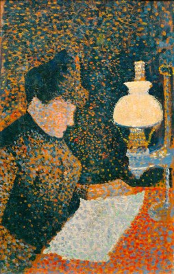 Woman under the lamp - Paul Signac