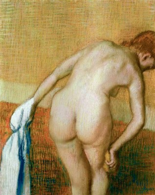 Woman washing her right thigh - Edgar Degas