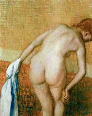 Woman washing her right thigh - Edgar Degas