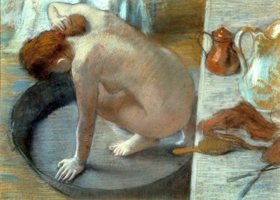 Woman washing herself - Edgar Degas