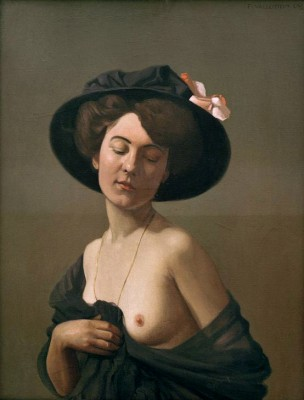 Woman with black hat - Félix Vallotton