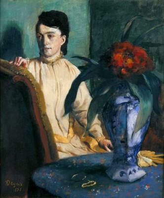 Woman with Chinese Vase - Edgar Degas