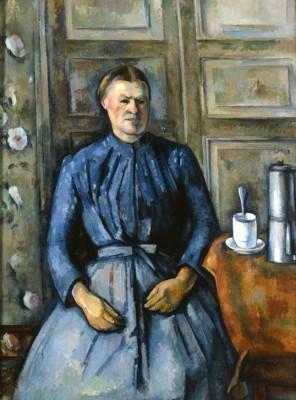 Woman with coffee pot (2) - Paul Cézanne