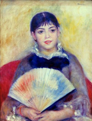 Woman with fan - Pierre Renoir