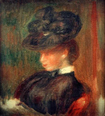 Woman with Hat - Pierre Renoir