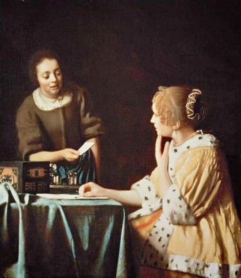 Woman with Maid and Letter - Jan Vermeer