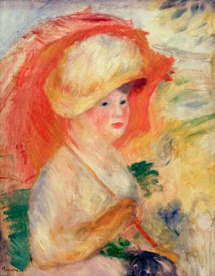 Woman with parasol - Pierre Renoir