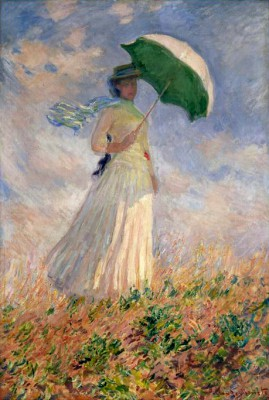 Woman with Parasol Turned to the Right - Claude Monet