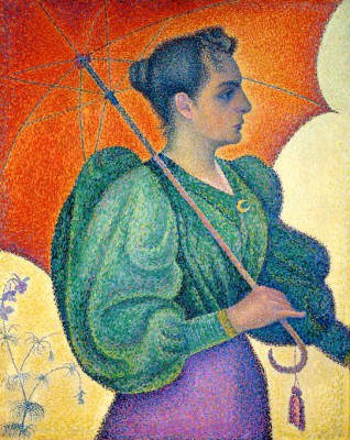 Woman with parasole - Paul Signac