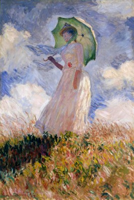 Woman with umbrella - Claude Monet