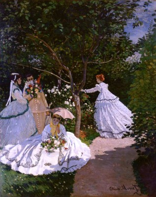 Women in a garden - Claude Monet