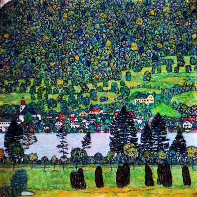 WOODED SLPE IN UNTERACH  KLIMT  19171 - Gustav Klimt