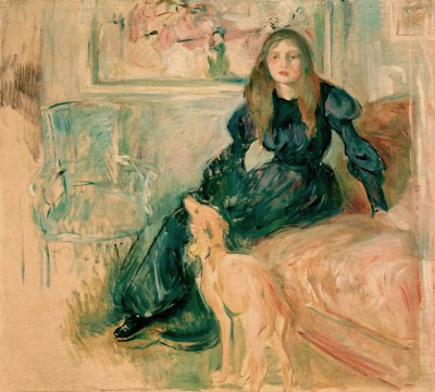 Young girl and greyhound - Berthe Morisot