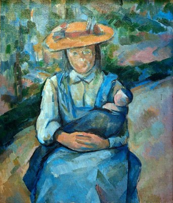 Young girl with doll - Paul Cézanne