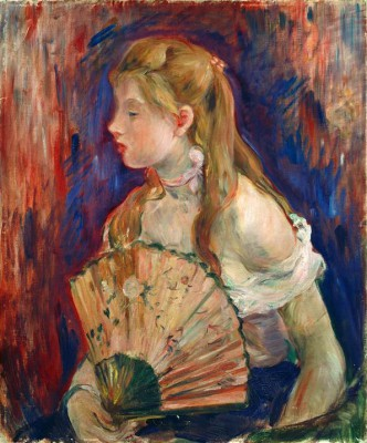 Young Girl with Fan - Berthe Morisot