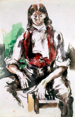 Young Man with Red Vest - Paul Cézanne