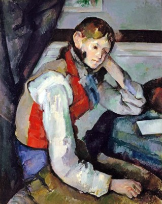 Young Man with red Waistcoat - Paul Cézanne