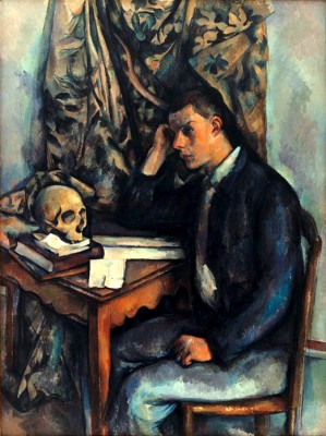 Young man with skull - Paul Cézanne