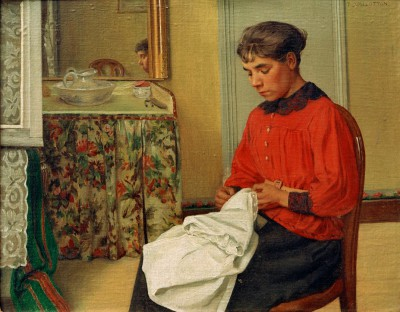 Young seamstress - Félix Vallotton