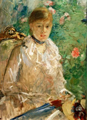 Young woman at window or Summer - Berthe Morisot