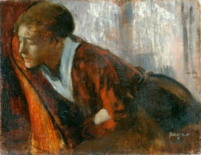 Young woman in an armchair - Edgar Degas