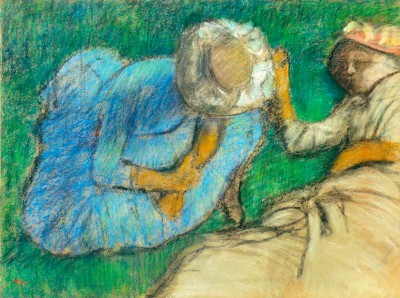 Young women resting in meadow - Edgar Degas