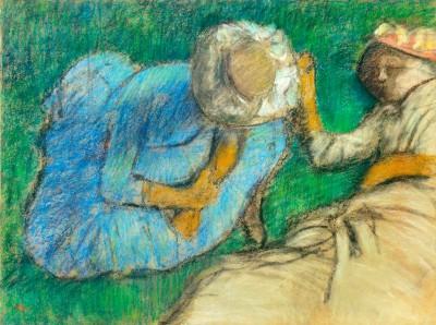 Young women resting in meadow - Edgar Degas