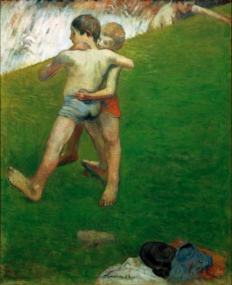 Young Wrestlers - Paul Gauguin