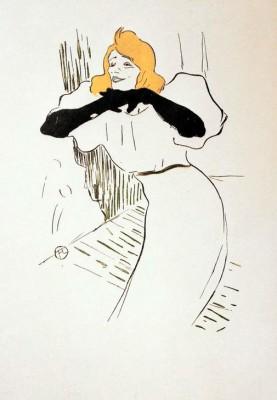 Yvette Guilbert dans Linger longer loo - Henri de Toulouse-Lautrec