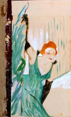 Yvette Guilbert salutant le public - Henri de Toulouse-Lautrec
