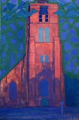 Zeeländischer Kirchturm - Piet Mondrian