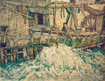 Zerfallende Mühle - Egon Schiele
