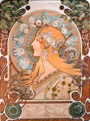 Zodiaque - Alfons Mucha