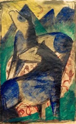 Zwei blaue Pferde - Franz Marc