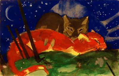 Zwei Katzen - Franz Marc
