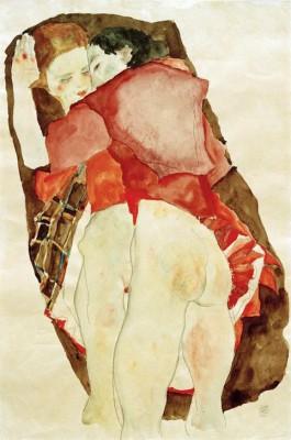 Zwei Mädchen - Egon Schiele