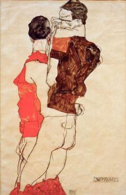 Zwei Männer - Egon Schiele