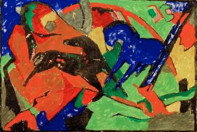 Zwei Pferde (3) - Franz Marc