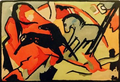 Zwei Pferde (4) - Franz Marc