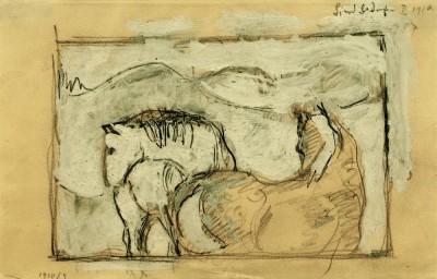 Zwei Pferde - Franz Marc