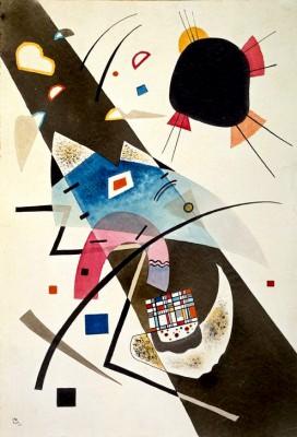 Zwei schwarze Flecke - Wassily Kandinsky